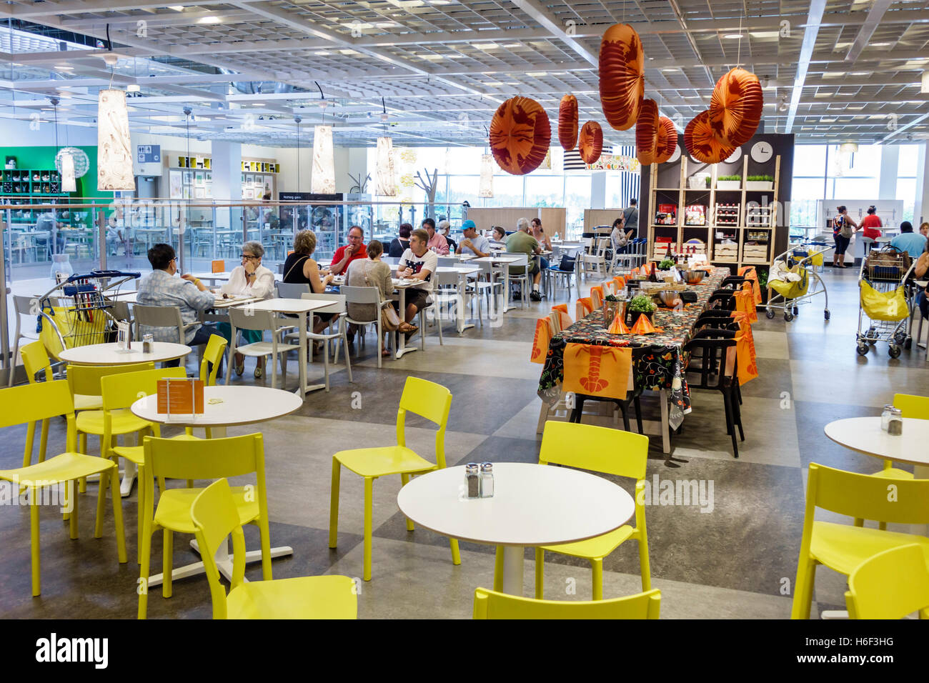 florida miami ikea home furnishings inside cafeteria