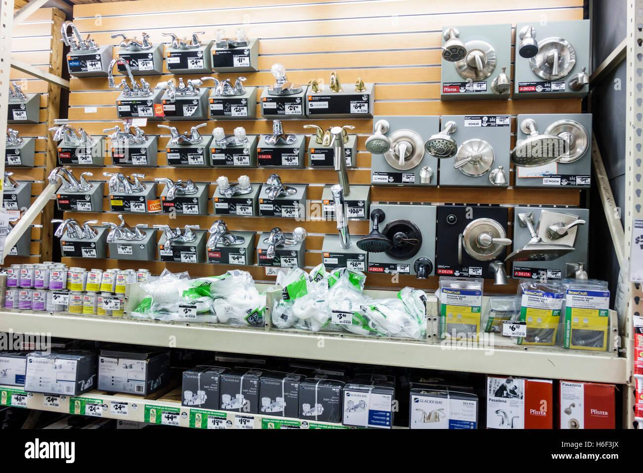 Florida Miami Aventura Home Depot improvement display sale faucet ...
