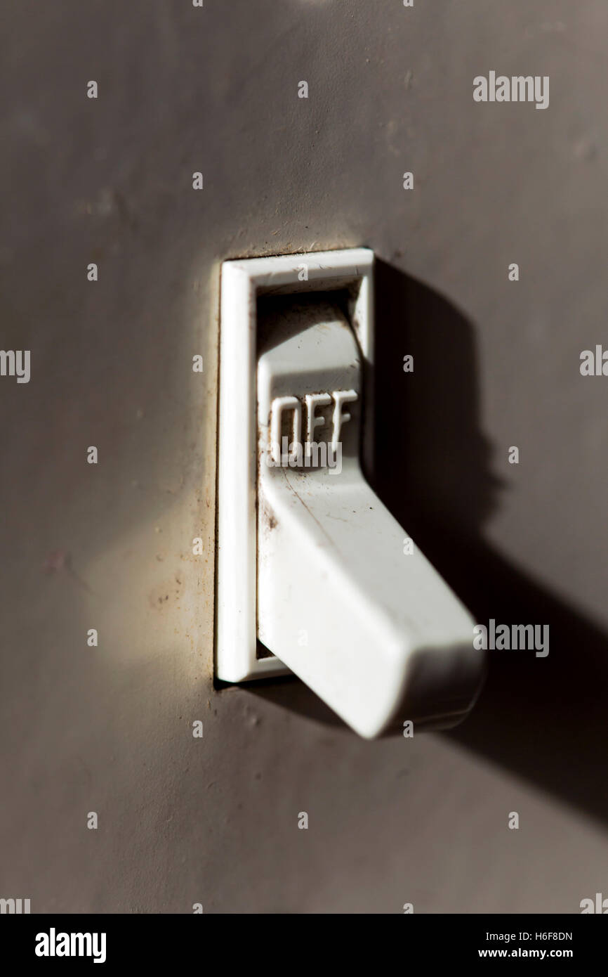 Macro Shot Of A Light Switch Turned Off