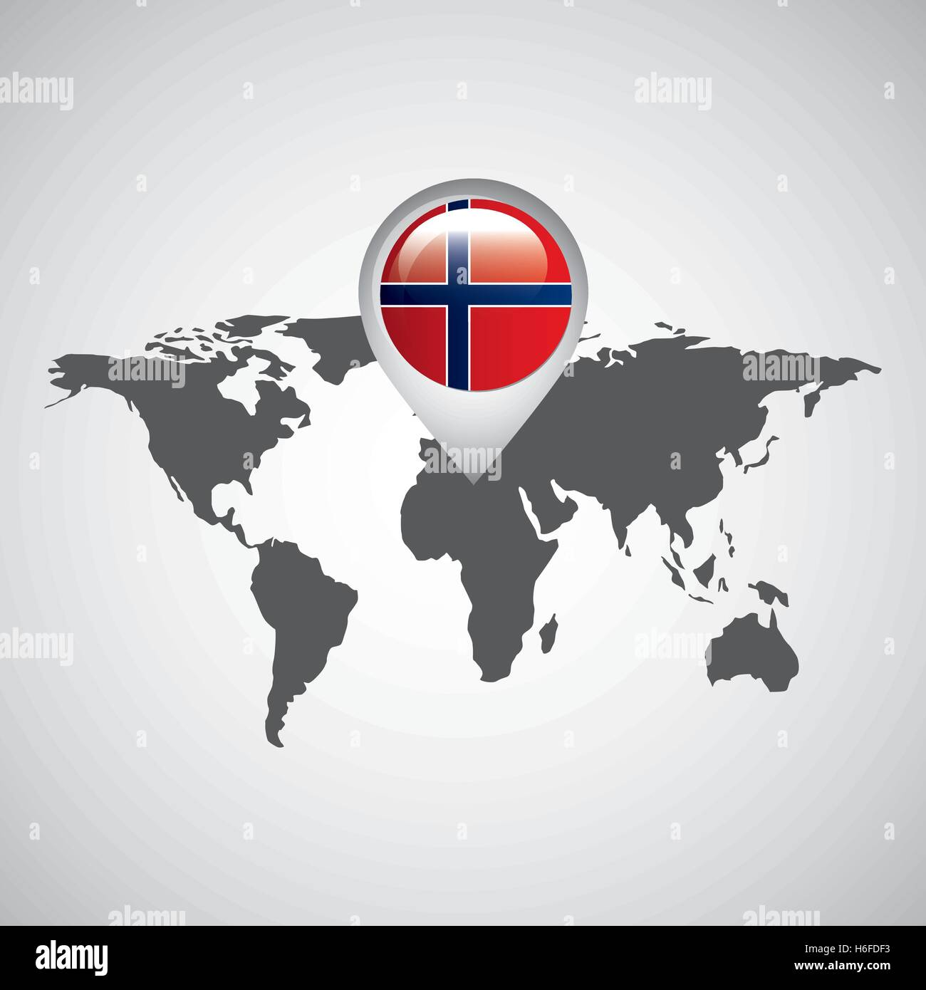 Norway Flag Pin Map Design Icon Vector Illustration Eps Stock - Norway map eps