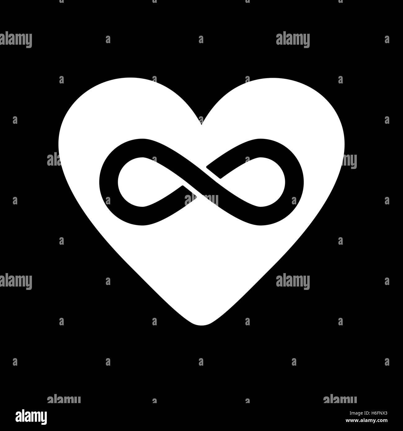 The heart and infinity icon heart and infinity symbol flat vector the heart and infinity icon heart and infinity symbol flat vector illustration buycottarizona Gallery