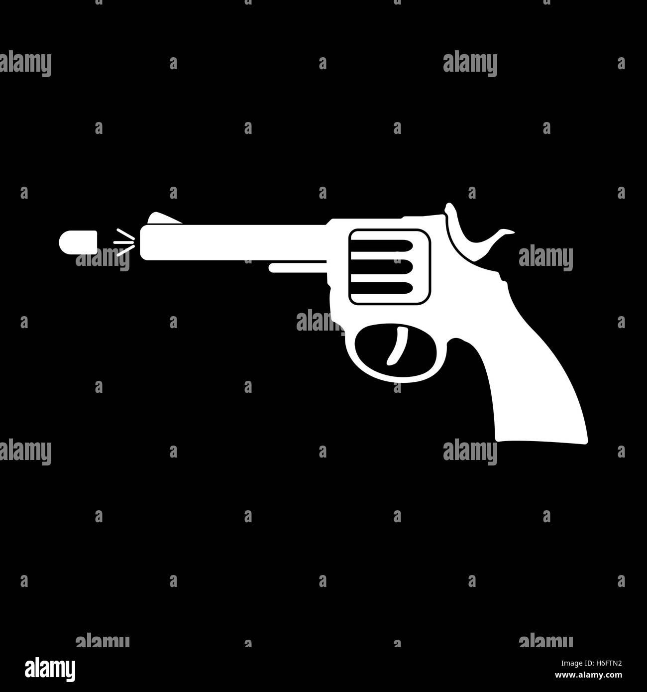 The gun icon pistol and handgun weapon revolver shot symbol the gun icon pistol and handgun weapon revolver shot symbol flat vector illustration biocorpaavc