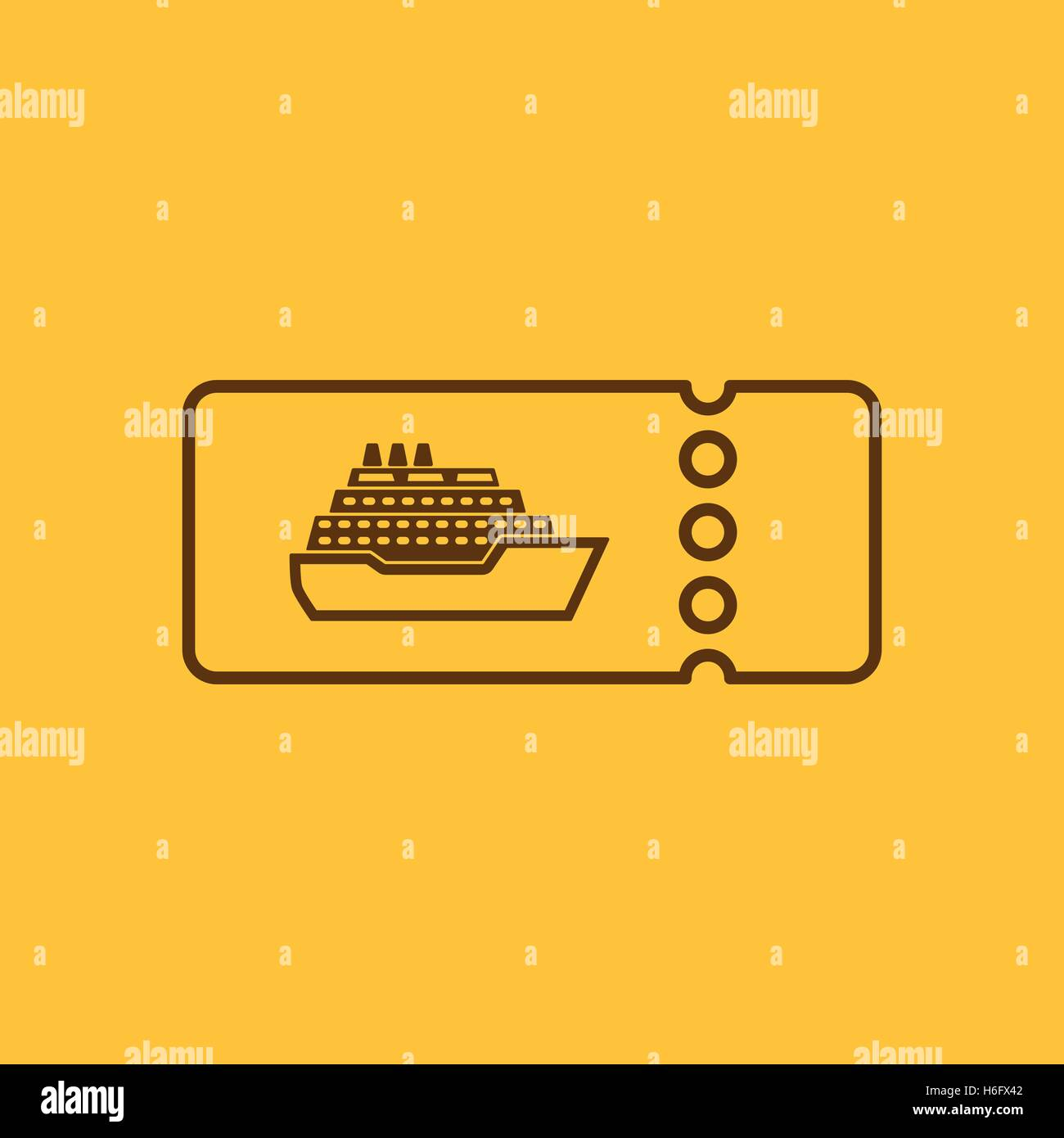 The Cruise Ship Tickets Icon Travel Symbol Flat Vector - How much is a cruise ship ticket