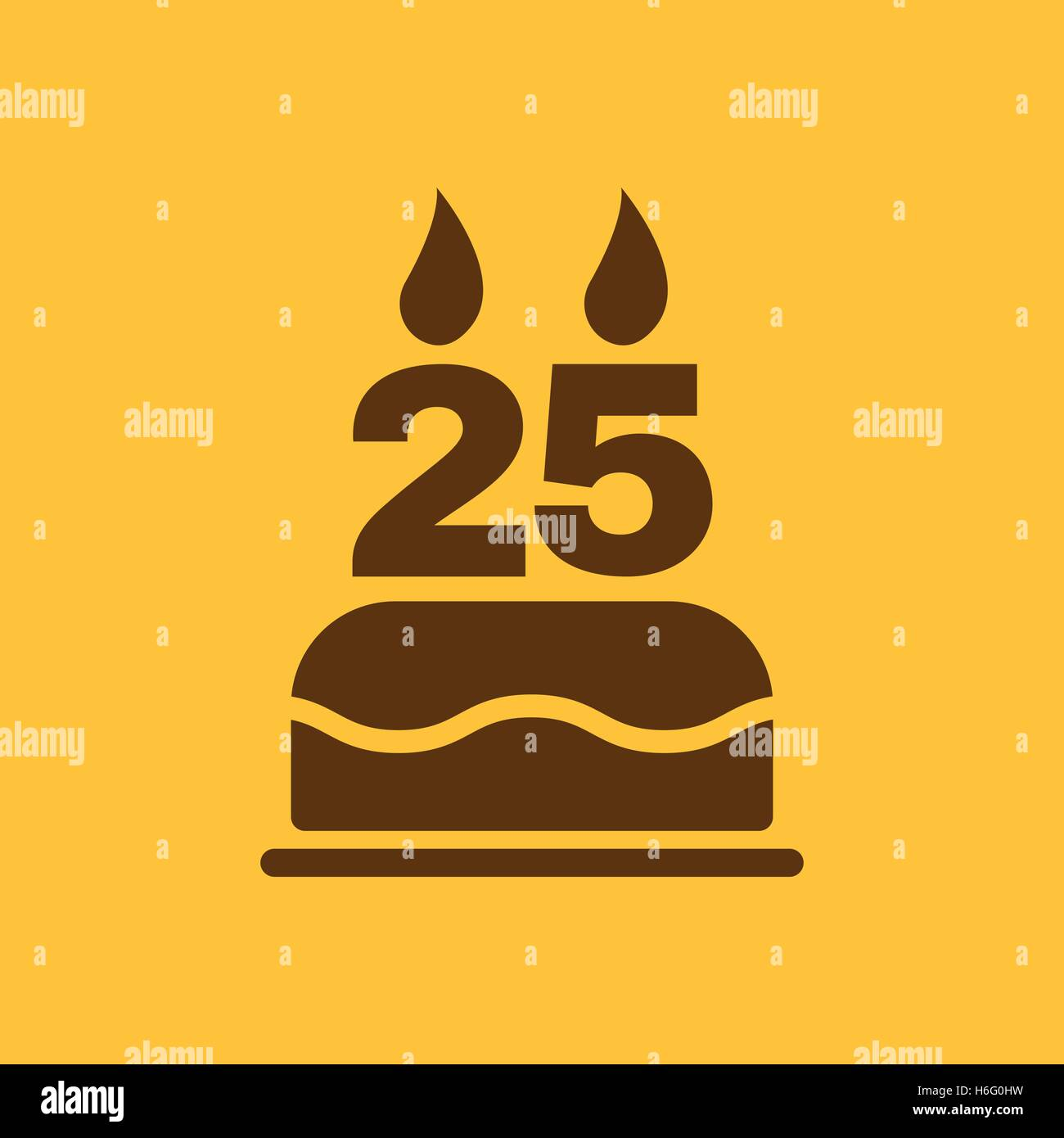 The birthday cake with candles in the form of number 25 icon stock the birthday cake with candles in the form of number 25 icon birthday symbol flat vector illustration buycottarizona