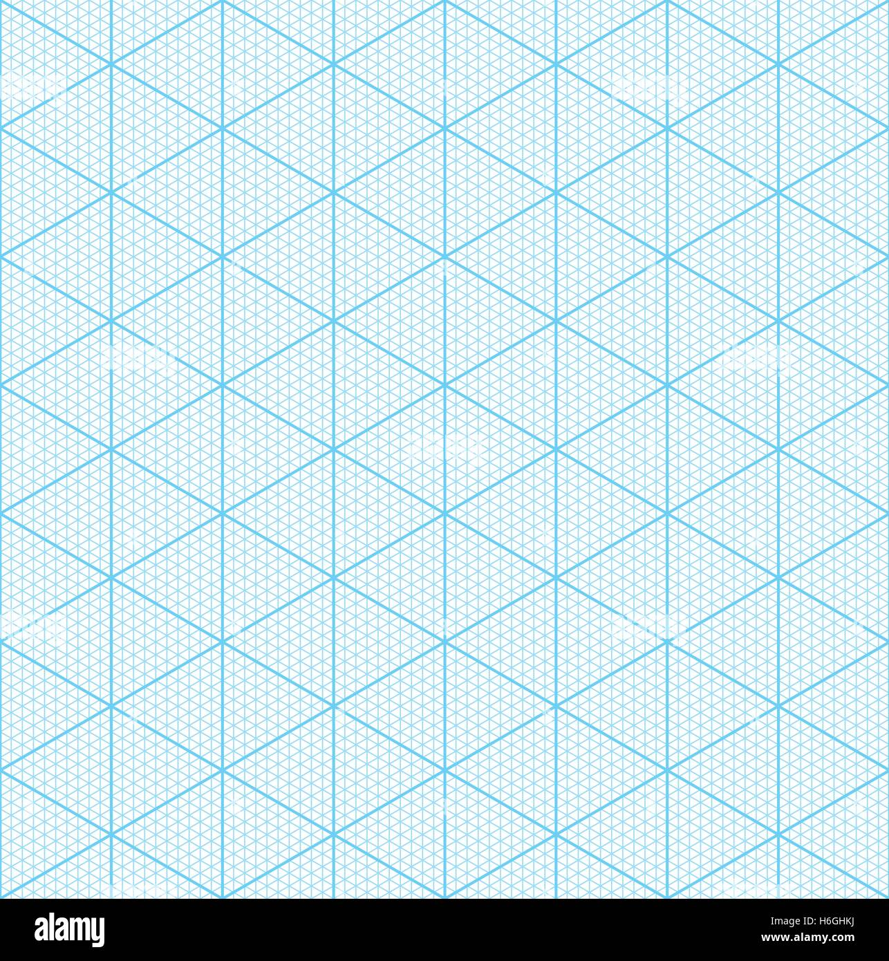 Isometric Graph Paper For 3D Design. Seamless Vector Pattern
