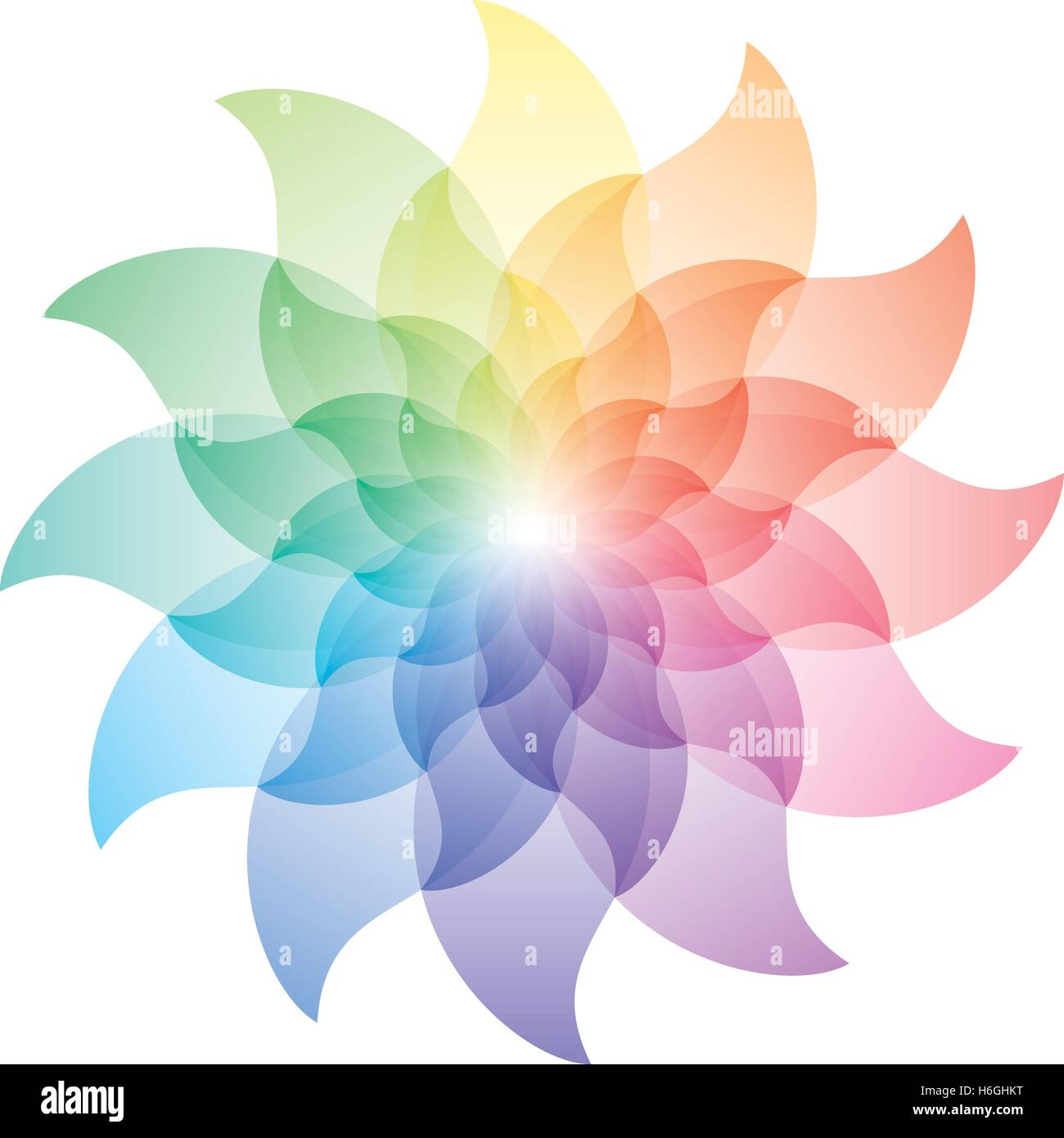 Beautiful Lotus Flower Color Wheel Icon Vector EPS10