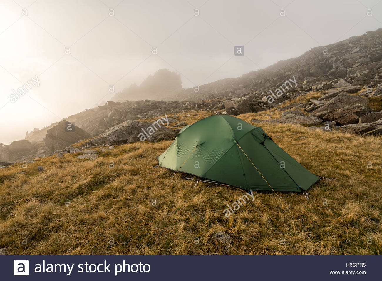 An obligatgory shot of my Terra Nova Ultra Quasar pitched ready for the night up on Glyder Fach looking towards Castell Y Gwynt & An obligatgory shot of my Terra Nova Ultra Quasar pitched ready ...