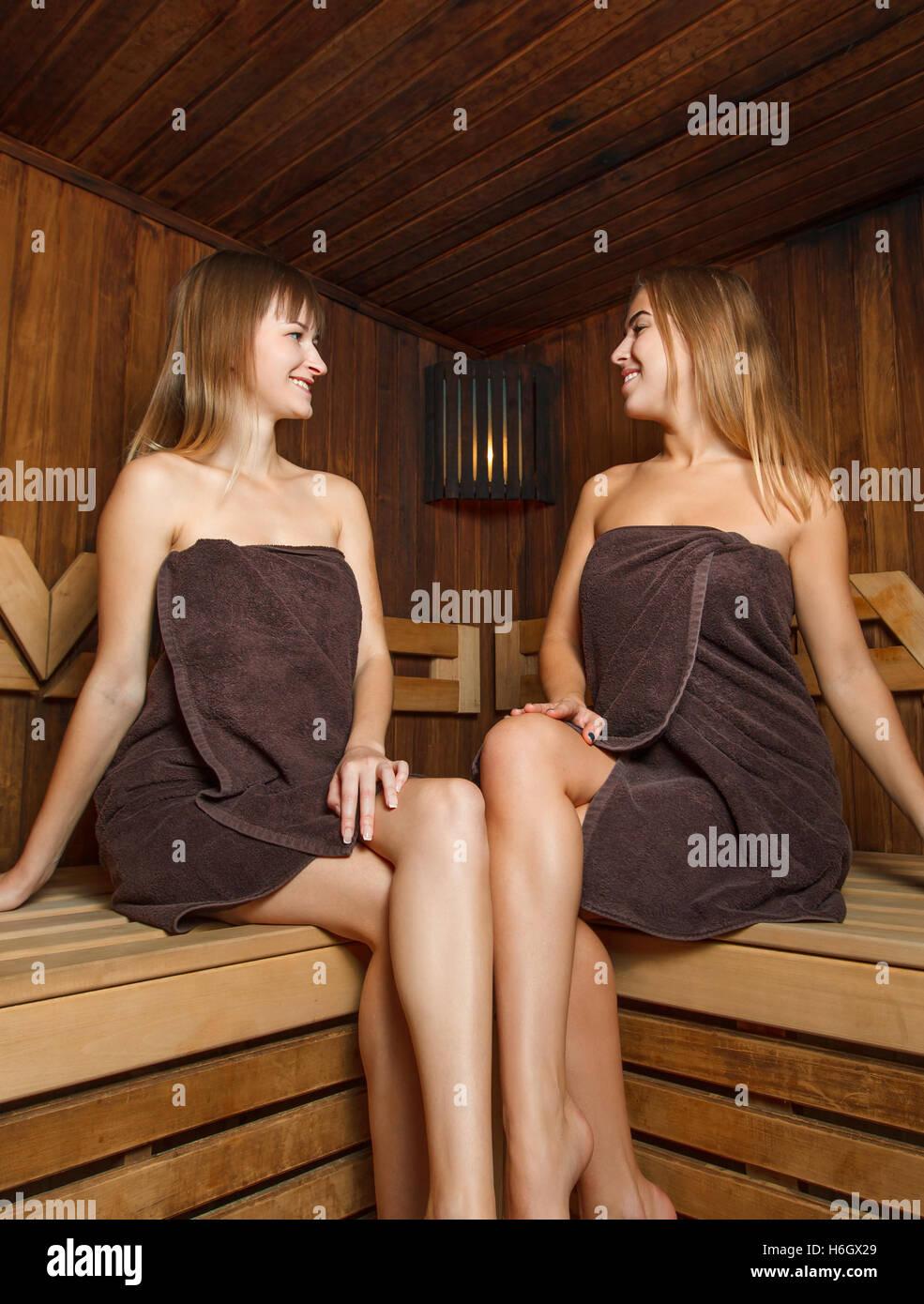 sauna girl