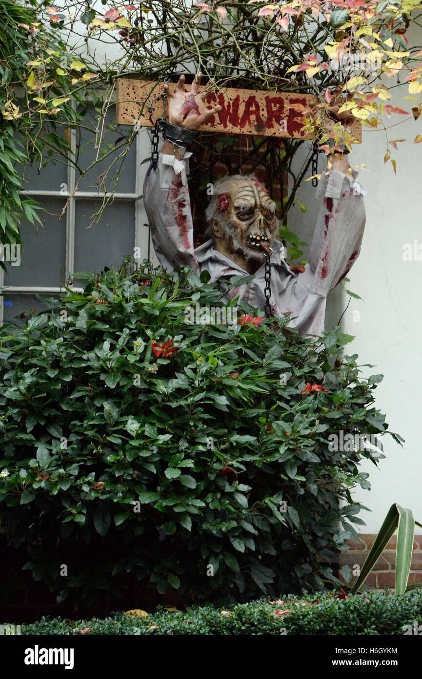a general view of halloween decorations outside jonathan rosss house in north london ahead of his annual party - Halloween Decorations Outside