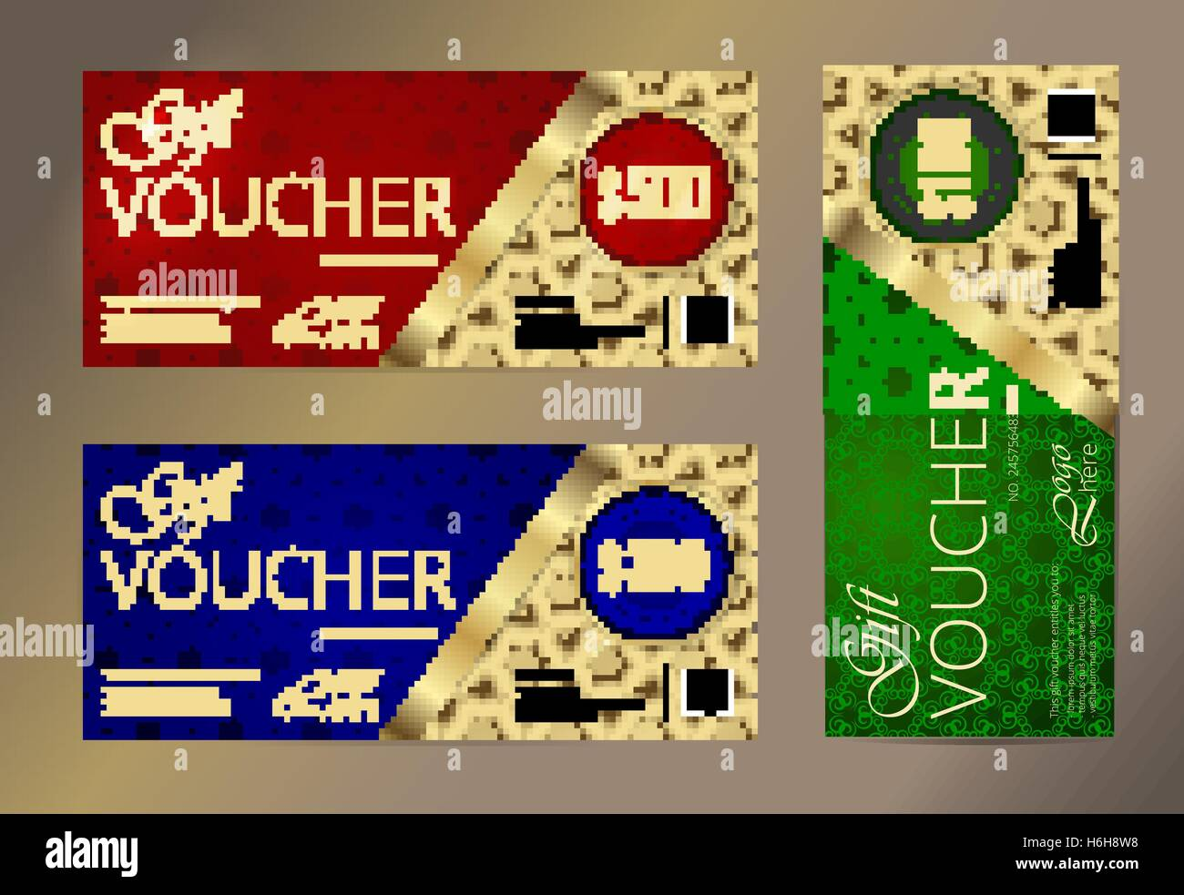 Gold vip club card voucher or gift certificate template stock gold vip club card voucher or gift certificate template xflitez Choice Image