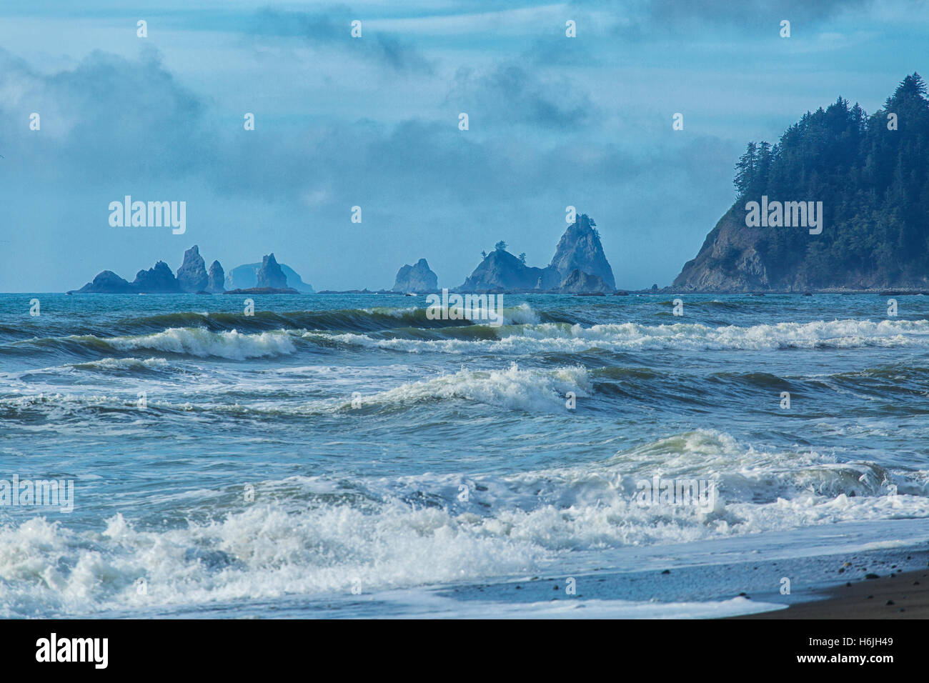 Rialto Beach La Push Washington USA Olympic National Park Stormy Weather