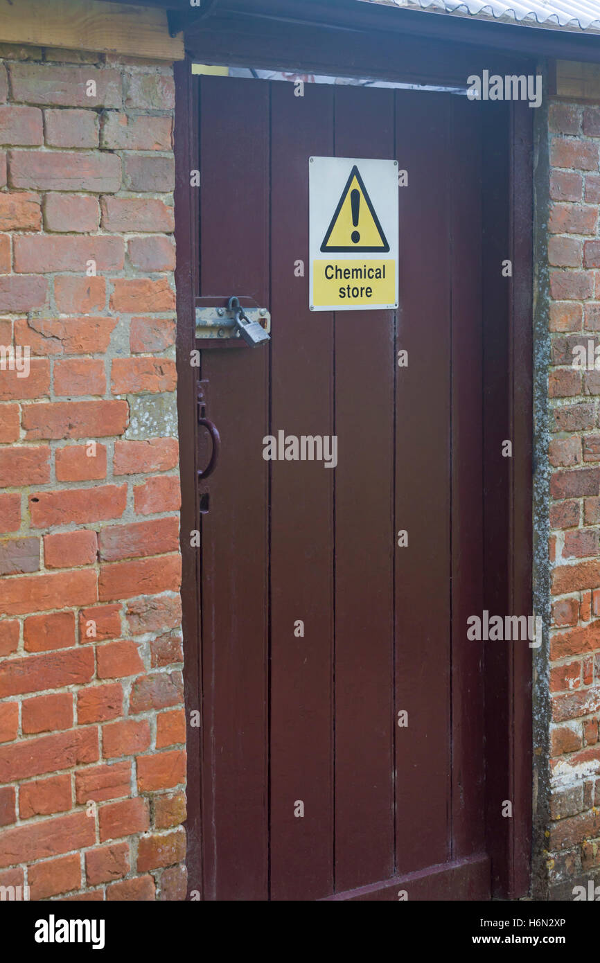 Chemical store sign on padlocked door & Chemical store sign on padlocked door Stock Photo Royalty Free ... Pezcame.Com