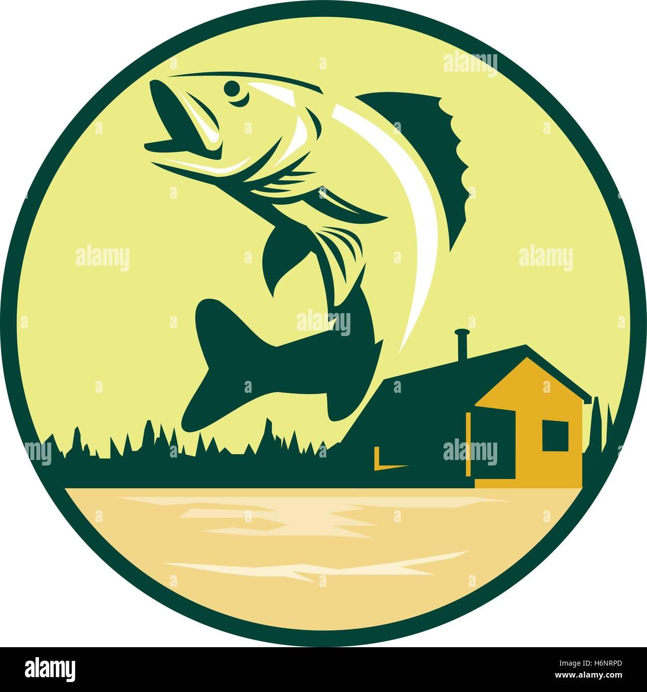Freshwater fish jumping - Illustration Of A Walleye Sander Vitreus Formerly Stizostedion Vitreum A Freshwater Perciform