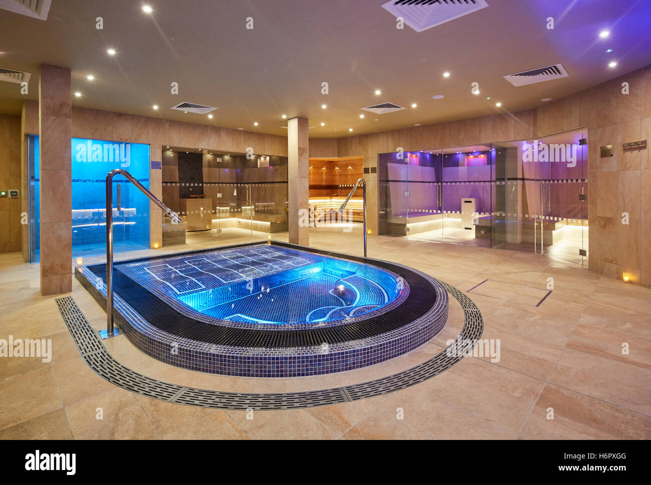 Spa Pool interior modern posh clean Inside Spa Nelson sauna space ...