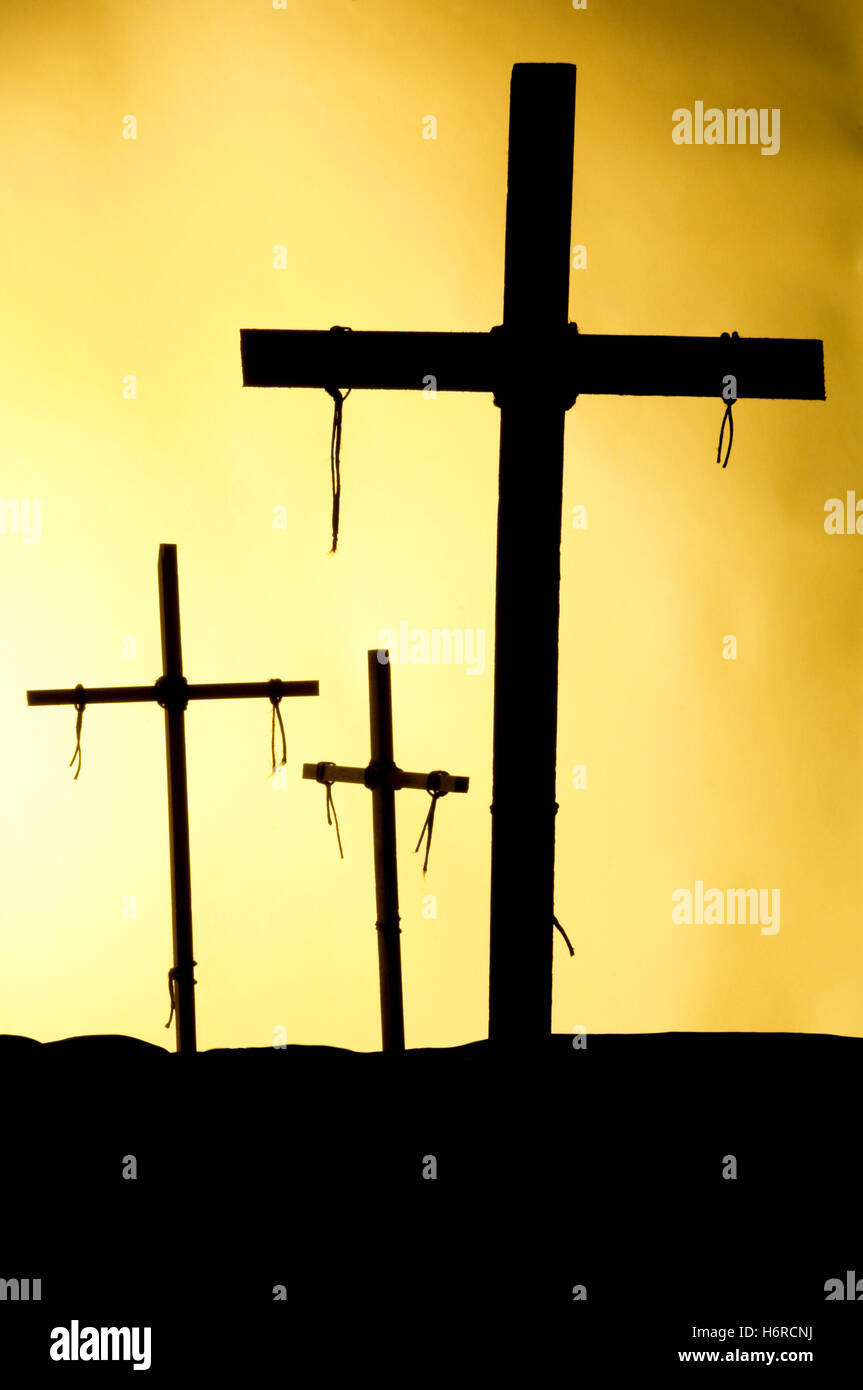 Silhouette of the holy cross on background of storm clouds stock - Religion God Death Hill Wood Sunset Cloud Cross Black Swarthy Jetblack Deep Black Pain Easter Three