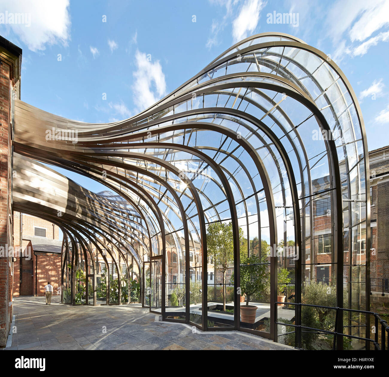 Curved Architecture Curved Greenhouse Structures Forming Archway Bombay Sapphire