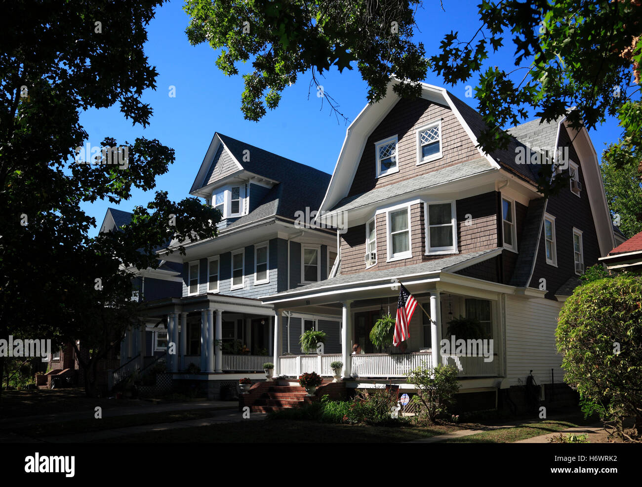 stock photo victorian style houses at ditmas park brooklyn new york usa - Victorian Style House