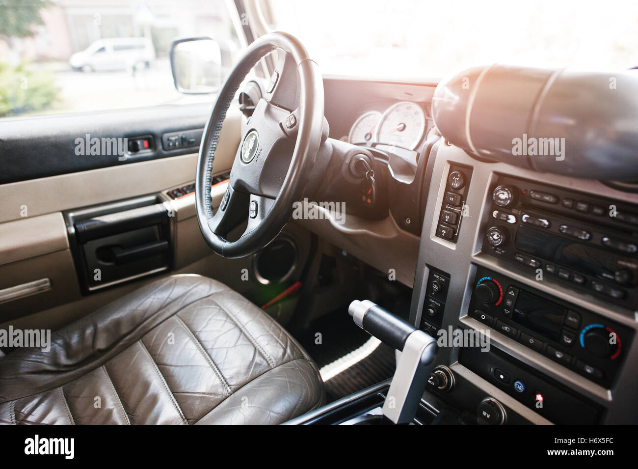 Hummer h2 stock photos hummer h2 stock images alamy hai ukraine october 20 2016 hummer h2 interior stock image vanachro Gallery