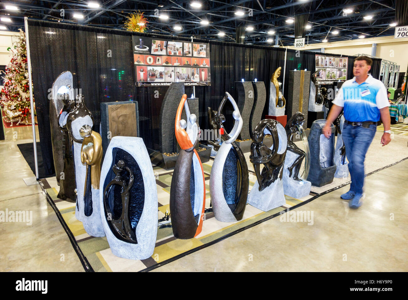 Florida Miami Beach Convention Center Centre Home Design And Remodeling Show  Sculptures Sale Display