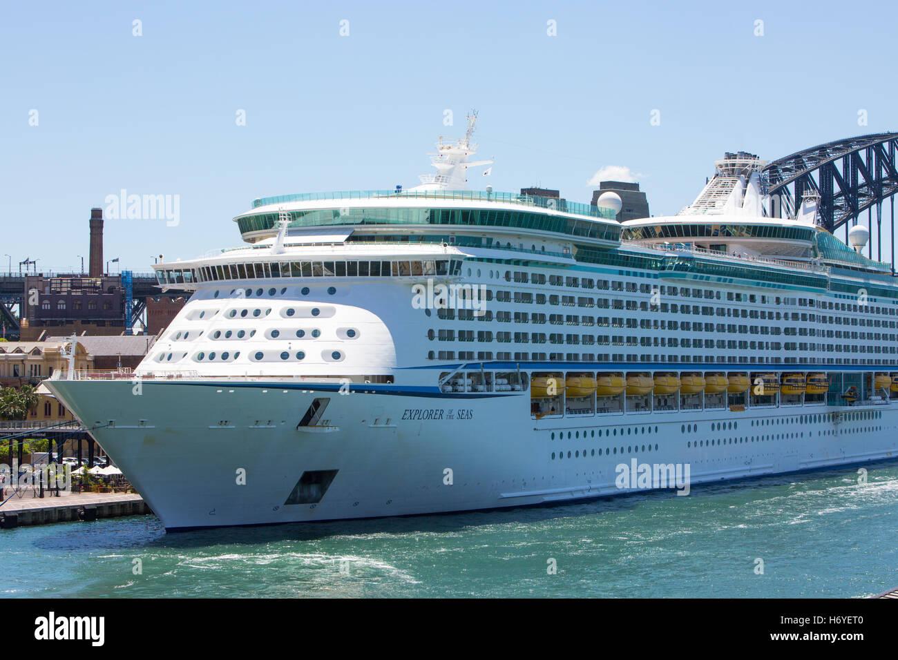 explorer of the seas royal caribbean cruise ship in port nassau