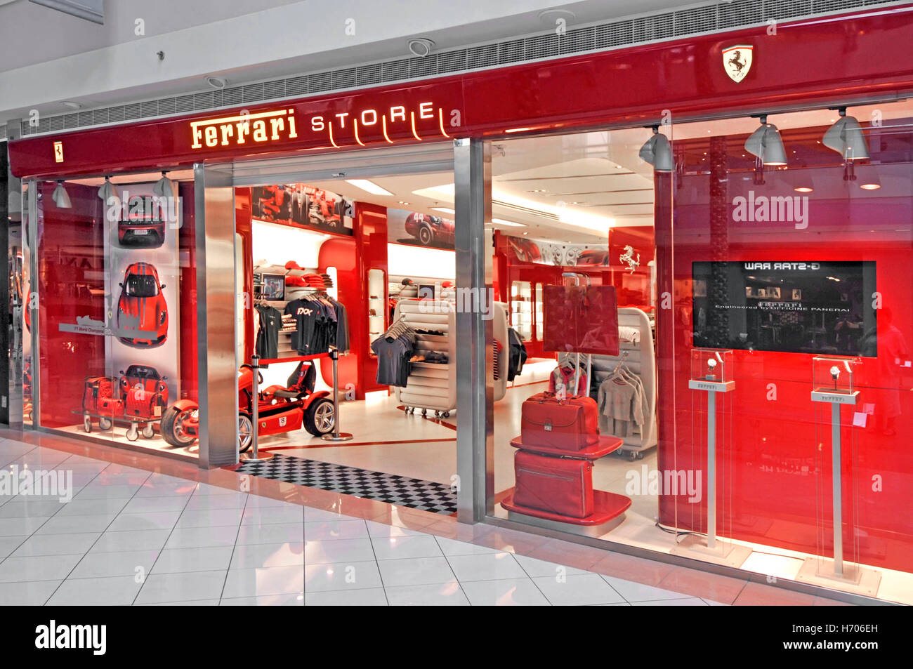 Uae Abu Dhabi Marina Shopping Mall Ferrari Store And Shop