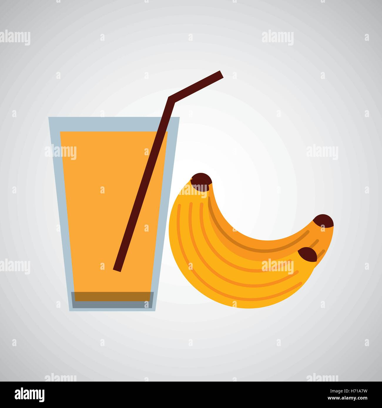 Glass juice cups design - Stock Vector Fresh Juice Banana And Cup Glass Straw Design Vector Illustration Eps 10