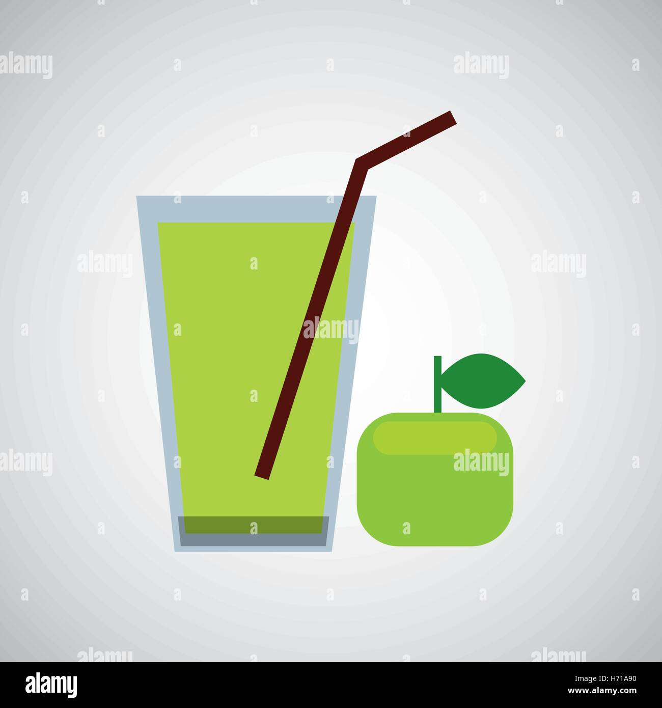 Glass juice cups design - Stock Vector Fresh Juice Green Apple And Cup Glass Straw Design Vector Illustration Eps 10