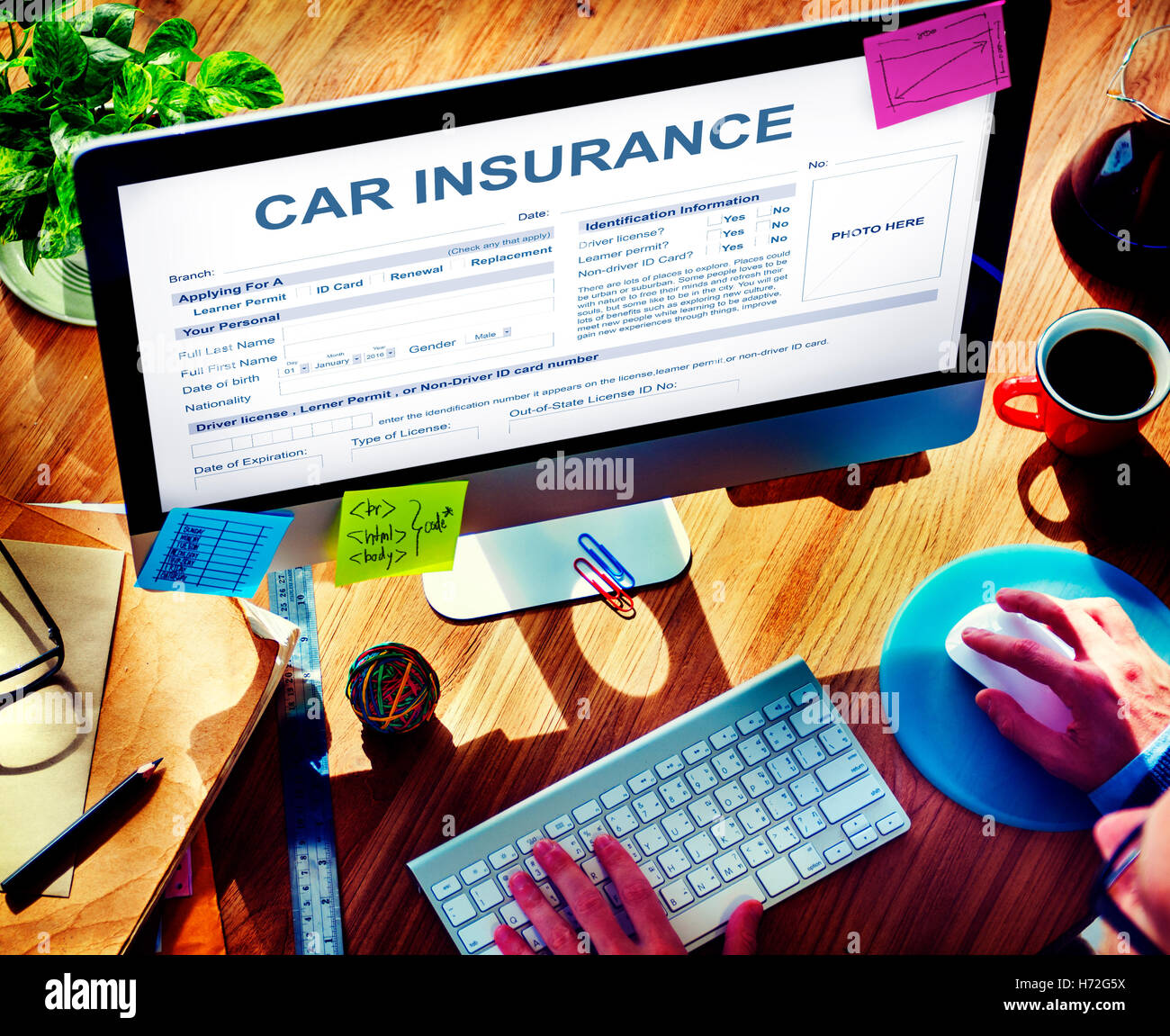 Car Insurance Form Accidental Concept Stock Photo, Royalty Free ...