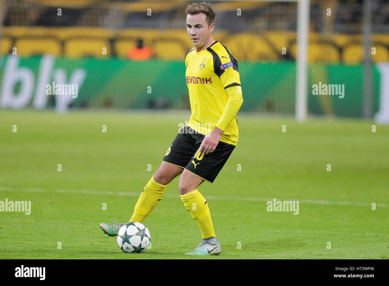 Dortmund Germany 2nd November 2016 Mario Gotze Borussia Stock