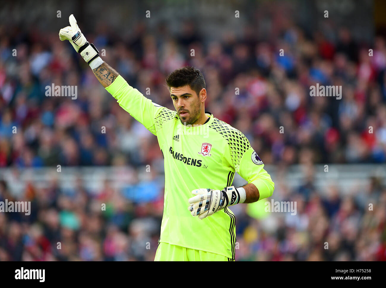 Middlesbrough goalkeeper Victor Valdes Stock Royalty Free
