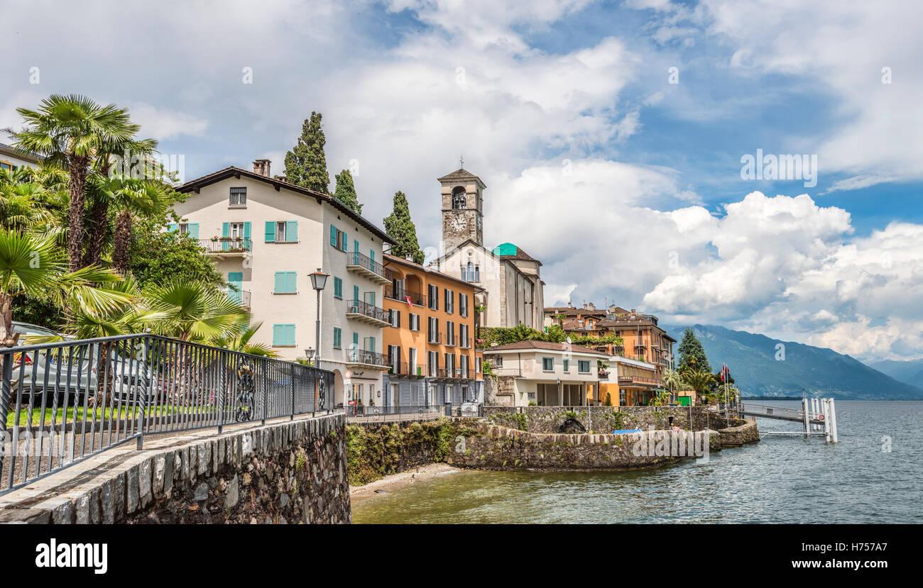 waterfront of brissago at lago maggiore ticino. Black Bedroom Furniture Sets. Home Design Ideas