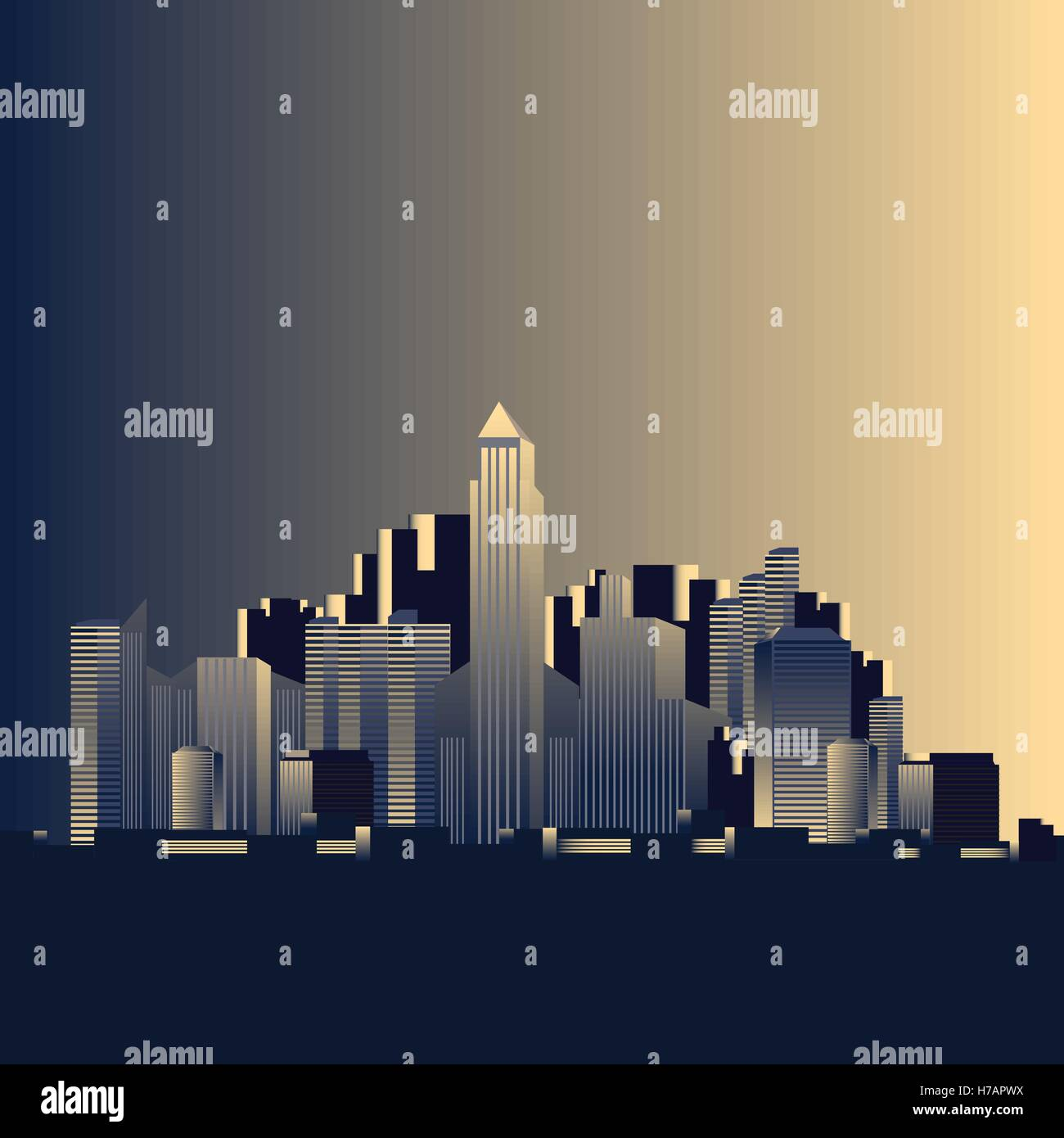 Outline athens skyline with blue buildings and copy space stock vector - Simple City Skyline Vector Illustration Stock Vector
