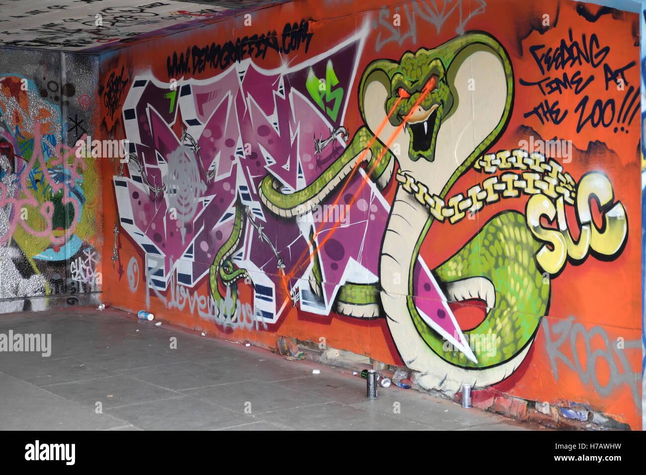 Graffiti at the skate park on londons south bank stock photo graffiti at the skate park on londons south bank altavistaventures Images