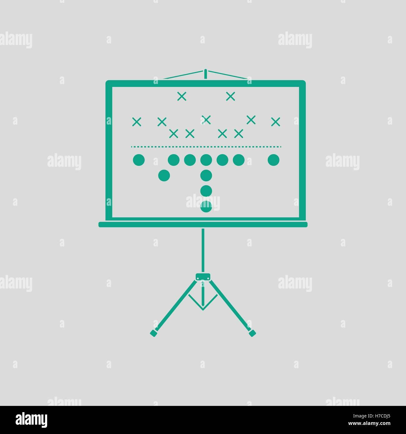 American football game plan stand icon gray background with green stock american football game plan stand icon gray background with green vector illustration biocorpaavc