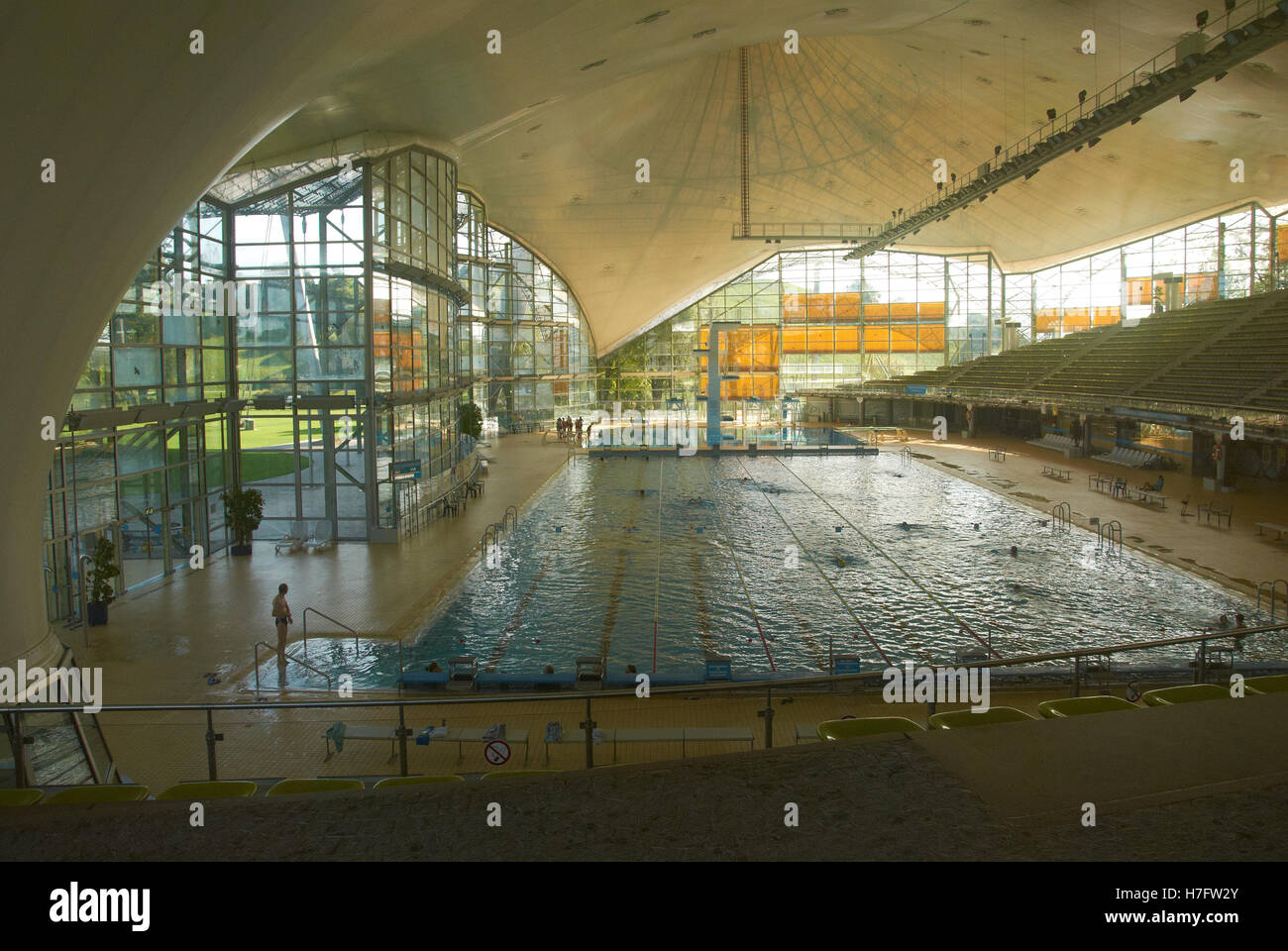 A Scene From The Munich Olympic Park Swimming Pool