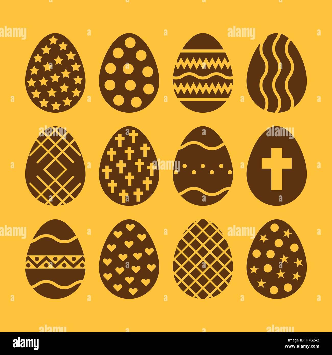 The egg and easter 12 icon easter egg symbol ui web logo the egg and easter 12 icon easter egg symbol ui web logo sign flat design app stock vector buycottarizona