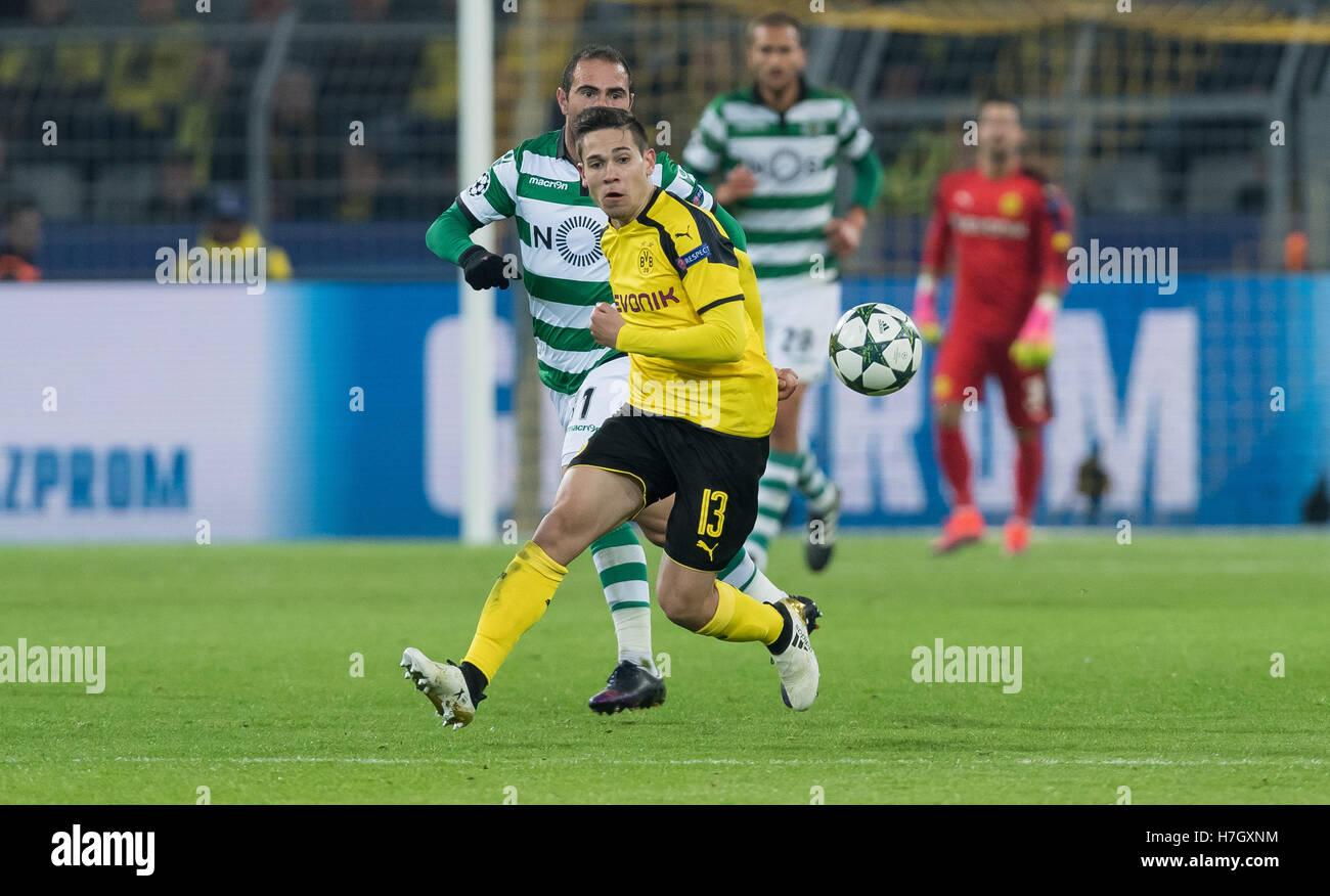 Dortmund Germany 2nd Nov 2016 Dortmund s Raphael Guerreiro r