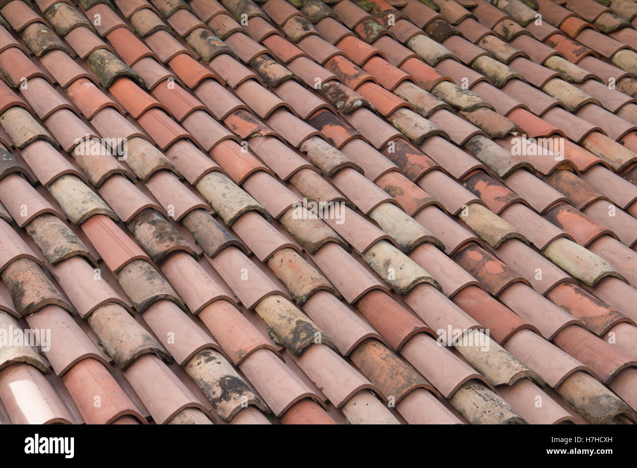 Roof Shingles. Red Roof Shingles. Italy