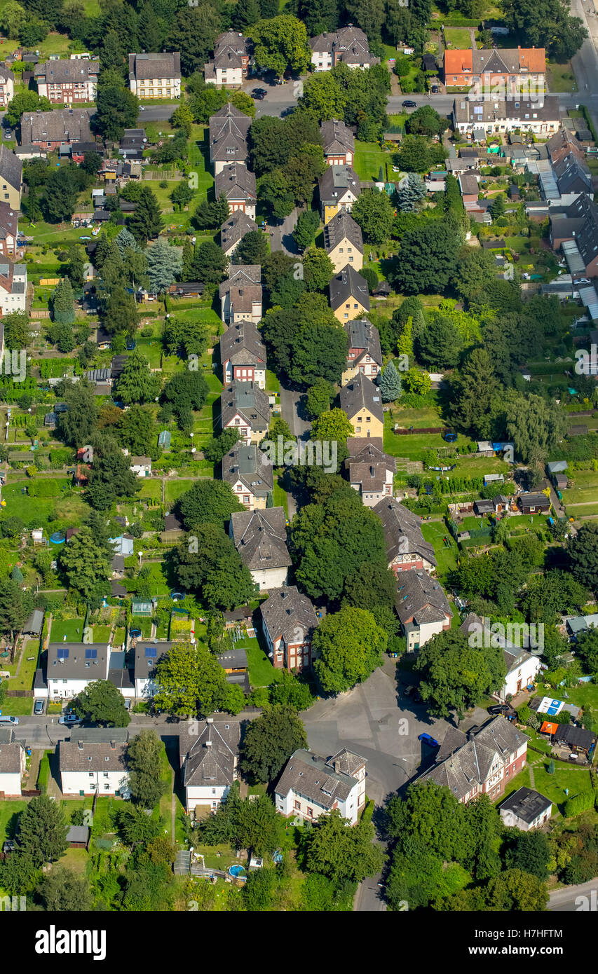 aerial view dortmund eving old colony housing estate for zeche stock photo royalty free image. Black Bedroom Furniture Sets. Home Design Ideas