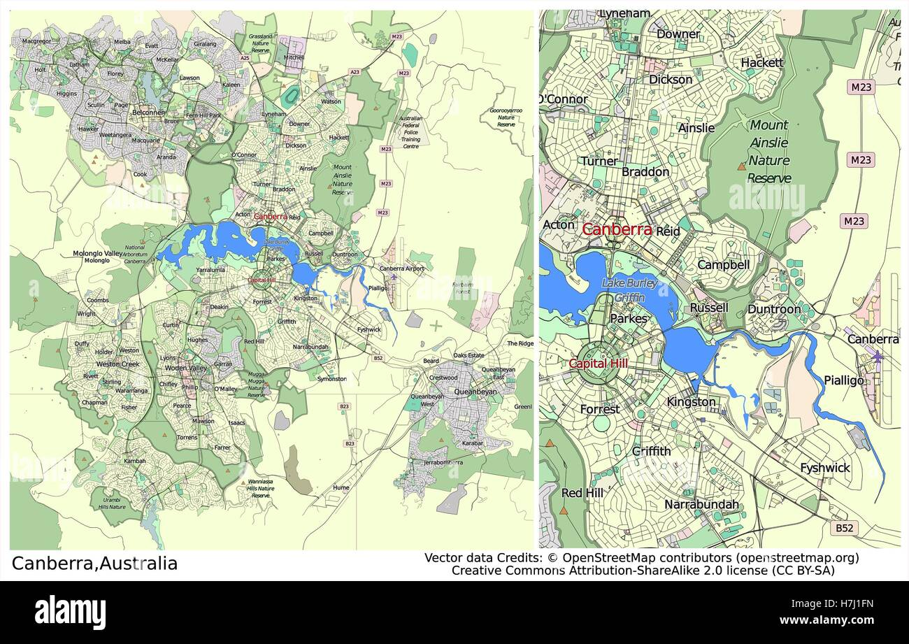 Canberra australia large aerial view city map stock photo royalty canberra australia large aerial view city map gumiabroncs Image collections