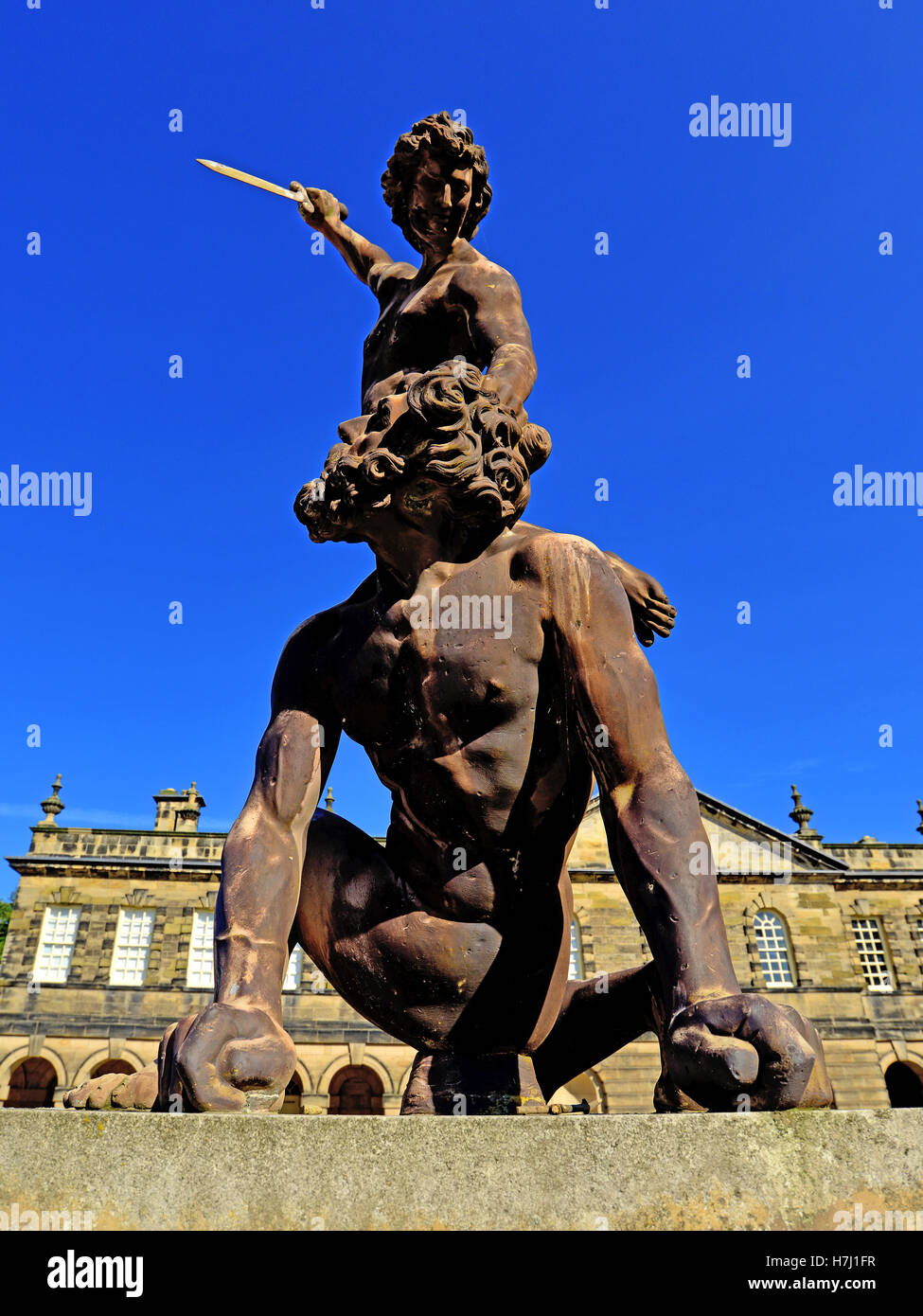 david and goliath seaton delaval hall nt stock photo royalty free