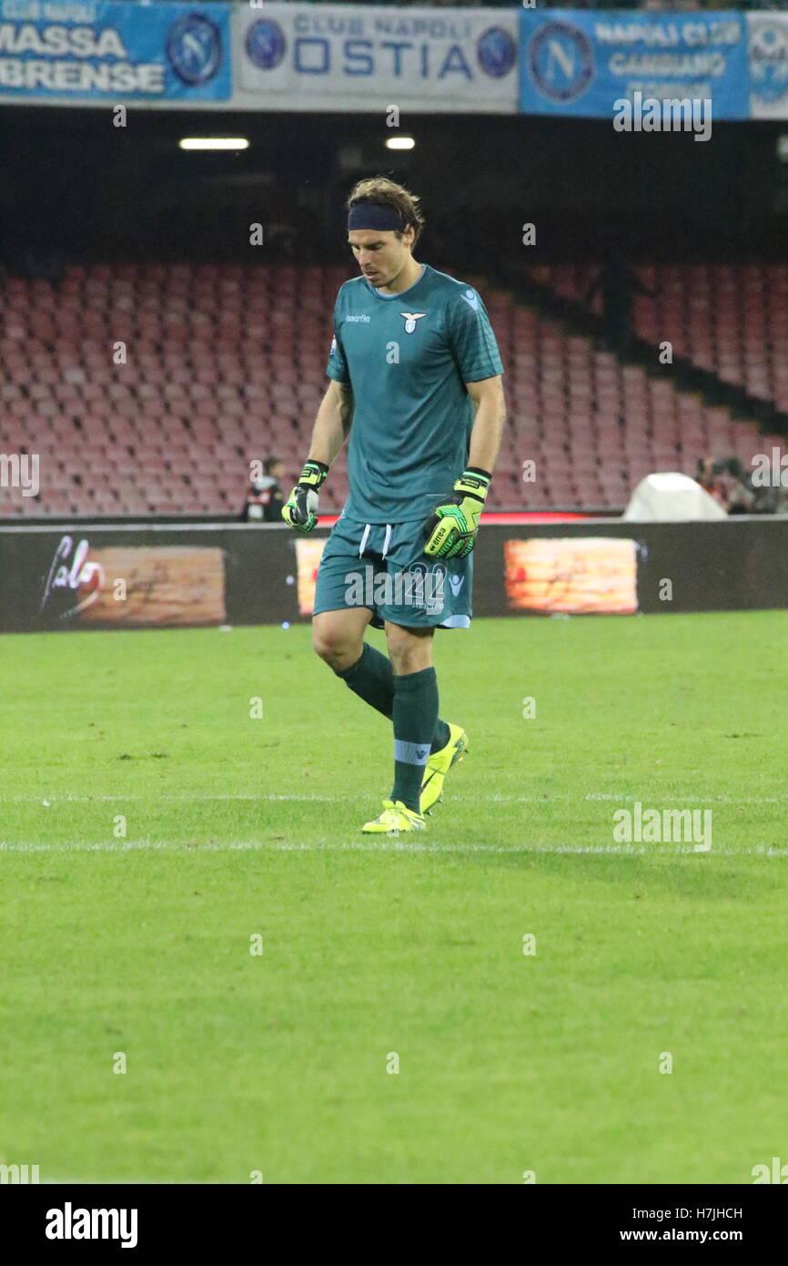 Naples Italy 05th Nov 2016 Federico Marchetti goalkeeper Stock