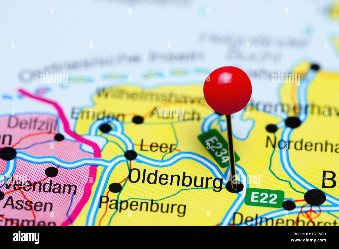 Oldenburg Pinned On A Map Of Germany Stock Photo Royalty Free - Oldenburg map