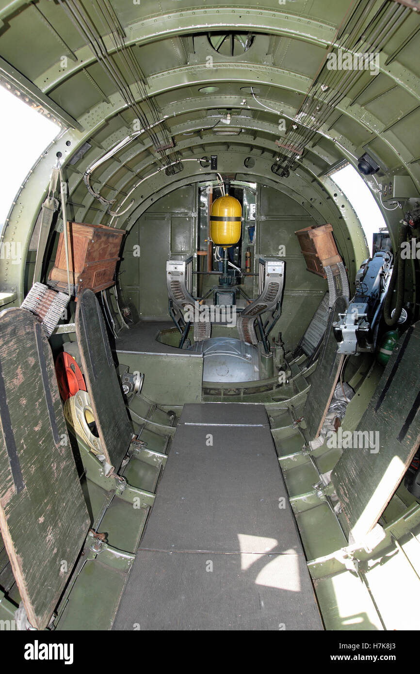 The interior of a B17 B-17 World war 2 bomber aircraft ...