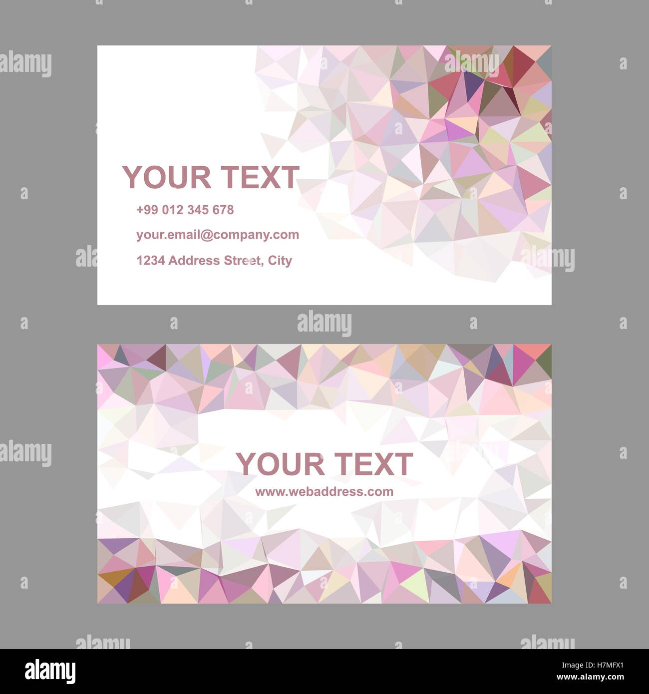 Multicolor triangle design business card template Stock Vector Art ...