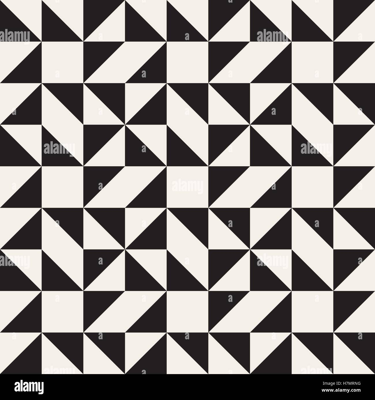 Vector Seamless Black And White Geometric Square Triangle