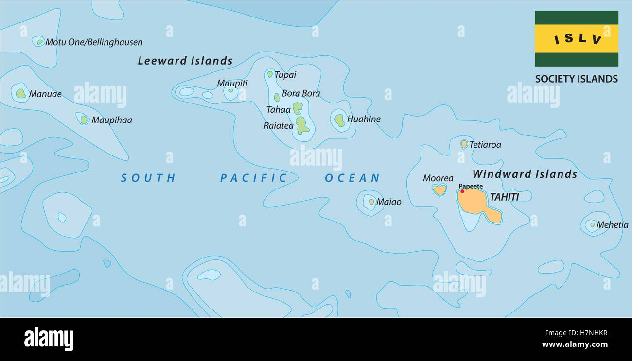 society islands map with flag  stock image. french polynesia map stock photos  french polynesia map stock