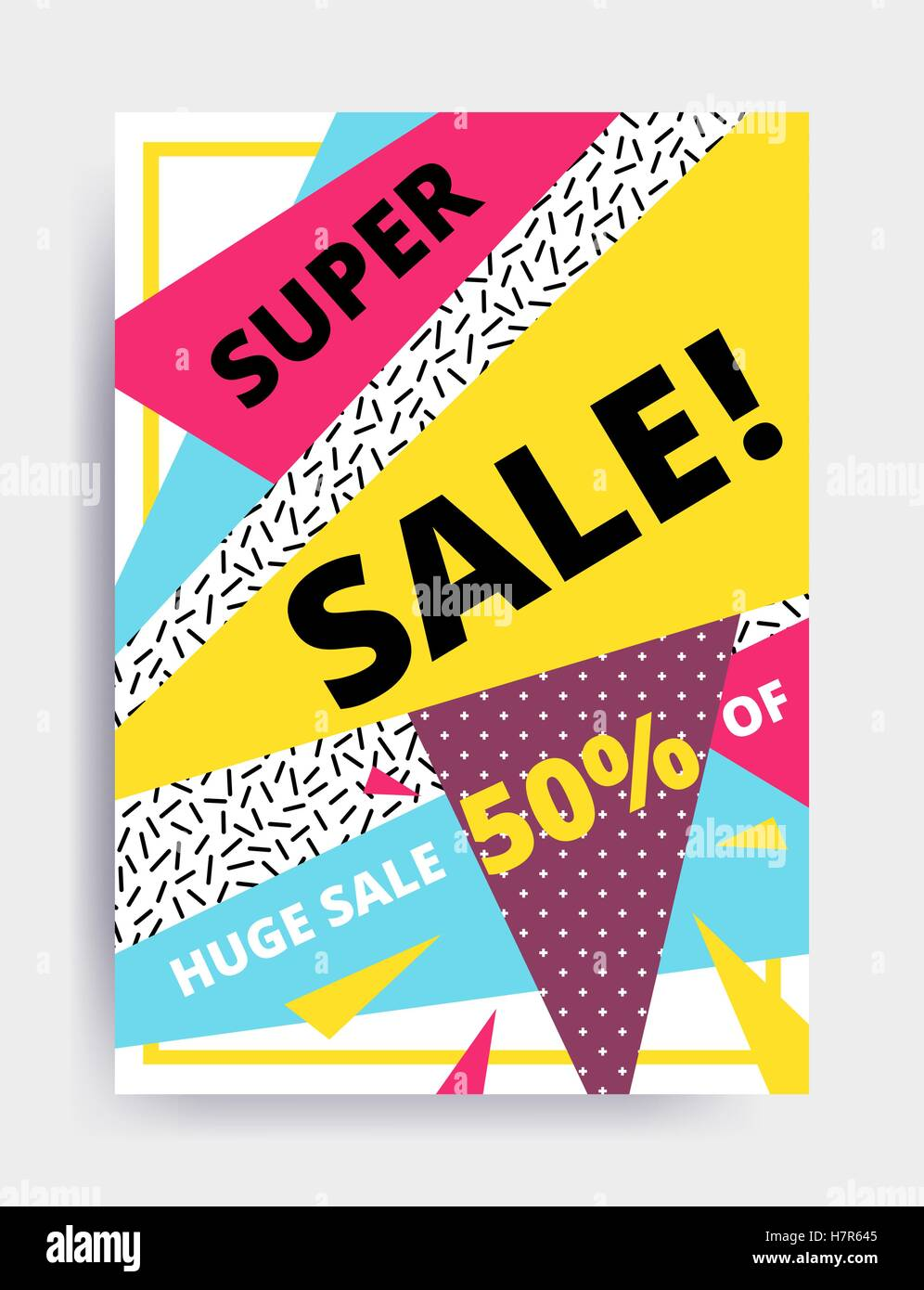 Poster design website -  Flat Design Eye Catching Sale Website Banner Template Bright Colorful Vector Illustrations For Social Media