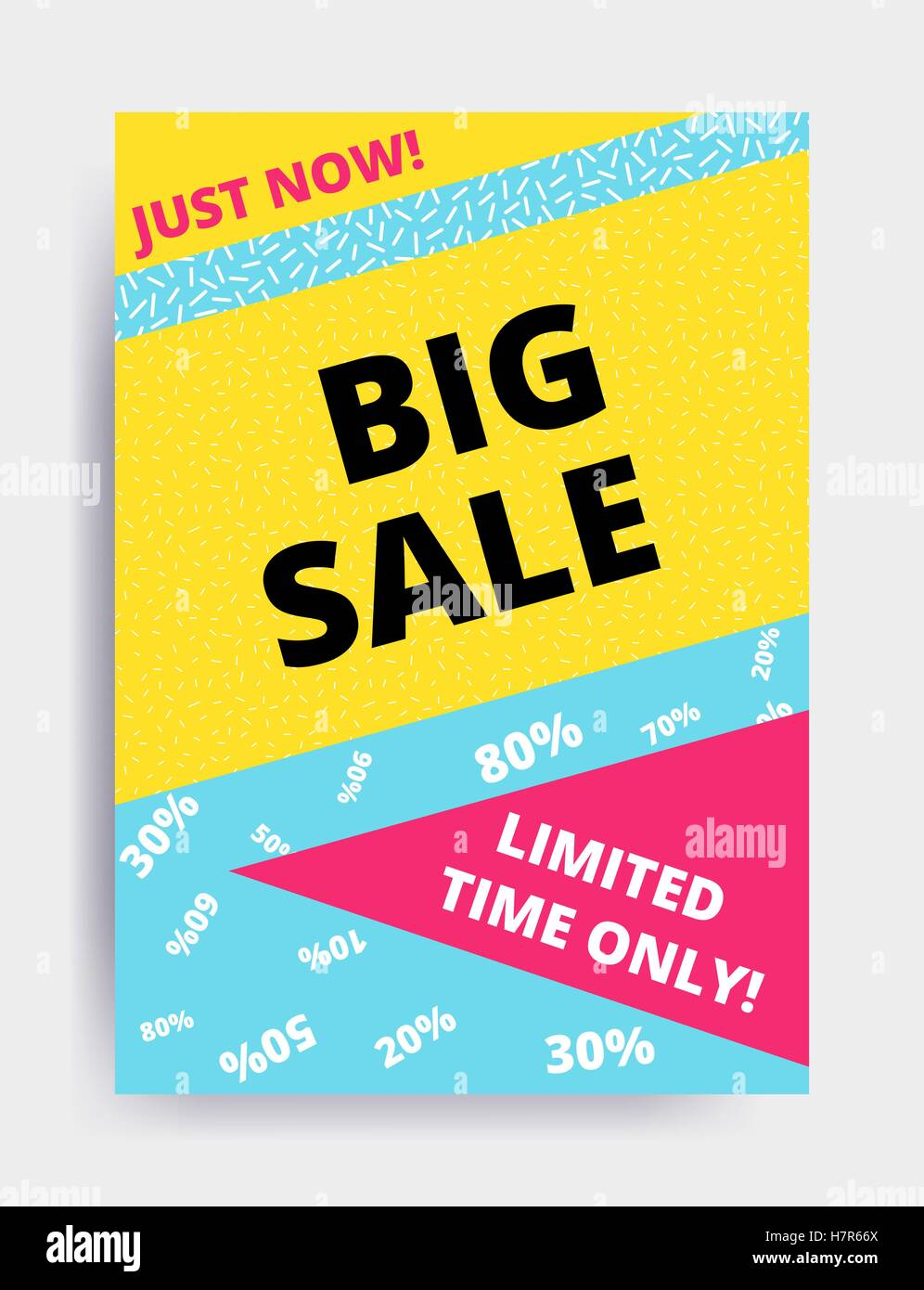 Poster design website - Flat Design Eye Catching Sale Website Banner Template Bright Colorful Vector Illustrations For Social Media Posters Email Pr