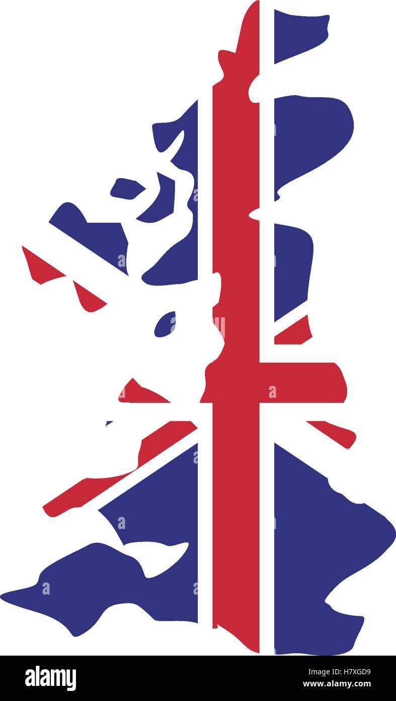 United Kingdom Map Icon London Uk Landmark Tourism And England - United kingdom map vector